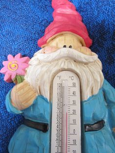 Thermometer features a darling gnome by NowAndThenConnection