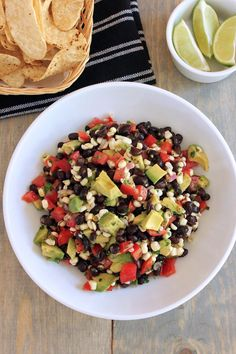 Black Bean, Corn and Avocado Salad - Green Valley Kitchen