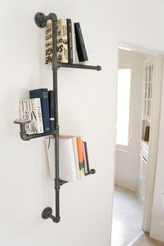 Bookshelf or great for a bathroom, towel hanging space.