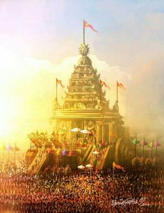 'Jagannatha has been worshiped by Hindus since aeons. This temple has been invaded/destroyed 18 times. We rebuilt it every single time. Today, all the invaders are long dead. Temple India, Hindu Temple, Atlantis, Shri Ram Photo, Indian Temple Architecture, Rath Yatra, Lord Rama Images, Lord Hanuman Wallpapers, Lord Shiva Painting