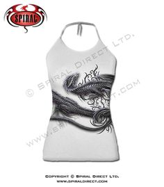 Spiral Direct Serpent Wrap ujjatlan női darkwear goth póló (fehér) S 24b7990942