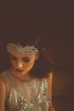 gorgeous vintage travel and aeroplanes-inspired wedding shoot. lots of beautiful headpieces, too