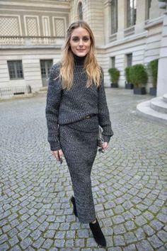 ribbed knit dress Olivia Palermo