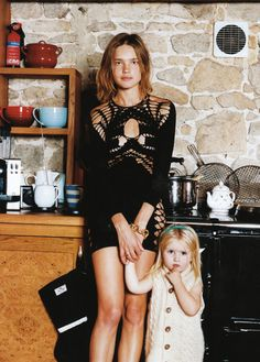 natalia vodianova + daughter « L O L I T A - Lolitas blog about fashion photography graphic design interior art lifestyle inspiration