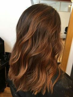 Copper balayage - All For Hair Cutes Hair Color Balayage, Ombre Hair, Copper Balayage Brunette, Copper Bayalage, Ombre Highlights, Copper Hair, Auburn Hair, Fall Hair, Dyed Hair