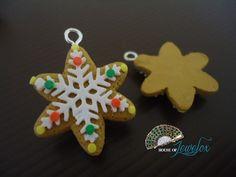 Handmade Clay Pendants Christmas Selection Snowman di JEWELOX