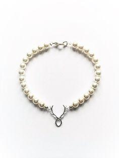 Perlenarmband *Hirscherl*, silber