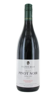 Felton Road, Block 5 Pinot Noir. The grapes are grown in a special block of the Elms Vineyard at Bannockburn,Central Otago, New Zealand.  Deeply coloured with fragrant spicy, complex bouquet.  The palate is powerful with deep cherryish, spicy, nutty flavors - a winner every time.