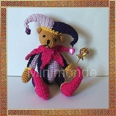 Jester bear amigurumi crochet pattern by minimonde on Etsy, $4.95