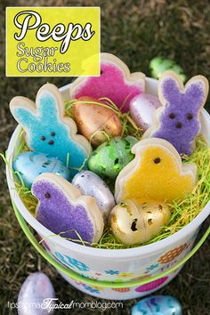 These Easter Peeps Sugar Cookies are so cute for your Easter Baskets. They are easier to make than you think! #Easter #Peeps #Wilton #Recipe #Cookies