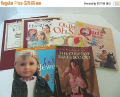 FALL FLASH SALE American Girl Books- A Set of 6 Books - Cook Book, Doll Jewelry, Quiz Book,Oh, Brother..Oh, Sister, Handbook, Ravenscourt by CellarDeals on Etsy