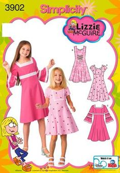 Child and Girl Dress Sewing Pattern 3902 Simplicity