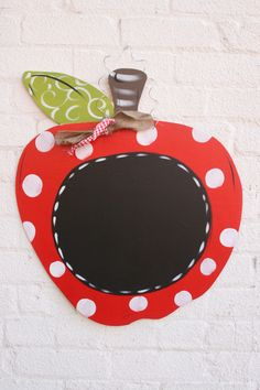 Door+Hanger+Door+Art+Chalkboard+Apple+Sign+Teacher+by+ladeedahart,+$30.00