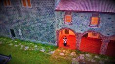 Prete che aspetta i fedeli  Preiser 10520, partigliano, diorama, h0, figures