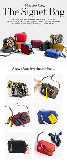 J.Crew – The Signet Bag rstyle.me/... Handmade Handbags & Accessories - http://amzn.to/2iLR27v