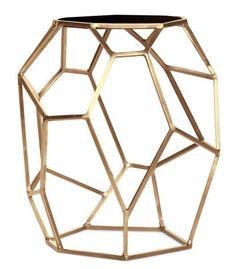 Matrix Brass Side Table - $1,284 - Scenario Home