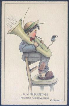 Künstlerkarte - sign. F. Probst ( K01253 ), Briefmarken-Versand-Welt - Briefmarken, Ansichtskarten und mehr