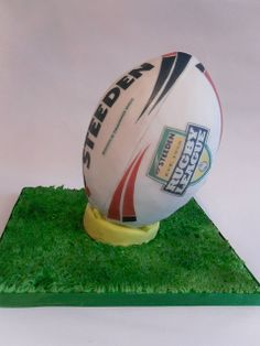 Steededn rugby ball cake - Rugby themed cake - For all your cake decorating supplies, please visit craftcompany.co.uk