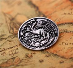 Fashion High Quality Vintage Retro Song of Ice and Fire Game of thrones Family Brooch Movie Jewelry