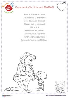 23 poésies illustrées sur le thème de la fête des mères, pour les élèves de cycle 1, cycle 2 et de cycle 3. Mothers Day Crafts, Mother Day Gifts, Fathers Day, Cadeau Parents, French Nursery, Mother's Day Activities, Crafts For Kids To Make, Reading Material, Mother And Father