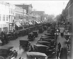 Small town America in the 1920s. This small town is Maquoketa, Iowa,