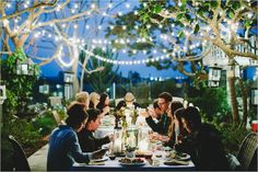 """Definitely the """"Light"""" of the party! Get custom length string lights to perfectly fit your space at http://www.partylights.com/Strings-Bulbs/C9-Strings-Bulbs."""