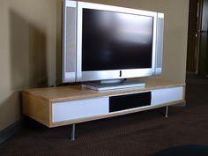 DIY TV Stand http://ksmodern.blogspot.com/2009/07/diy-television-stand.html