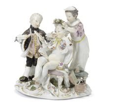 A Meissen group of children, circa 1760