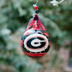 GEORGIA BULLDOGS UGA DAWGS Glory Haus Stripe Christmas Ornament NEW