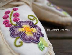 Authentic designs of the Flower Beadwork People of Canada. Authentic designs of the Flower Beadwork People of Canada. Native Beadwork, Native American Beadwork, Powwow Beadwork, Loom Patterns, Beading Patterns, Beading Ideas, Beaded Moccasins, Beadwork Designs, Native American Crafts