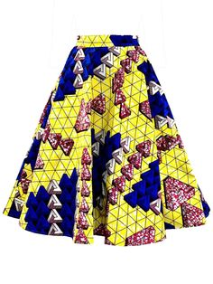 a31091166 Ericdress A-Line Geometric Print Women's Skirt Woman Silhouette, Vintage  Decor, Color Blocking