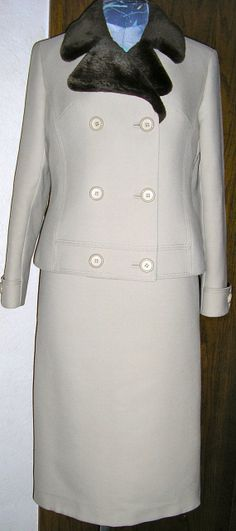 vtg Jobis wool suit made in Germany couture by ChloeandNatalieVtg, $650.00