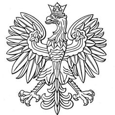 Poland eagle, polish national coat of arm royalty-free poland eagle polish national coat of arm stock vector art & more images of eagle - bird Tribal Sleeve Tattoos, Tattoo Sleeve Designs, Polish Eagle Tattoo, Badges, Art History Major, Eagle Drawing, Eagle Painting, Historia, Poster