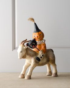 "H6CC9 Bethany Lowe ""Party Goater"" Halloween Figure Too Cute!!"