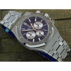 Audemars Piguet [2017 SIHH MODEL] Royal Oak Chronograph Blue Dial 26331ST.OO.1220ST.01 (Retail:HK$190,000) Ap Royal Oak, Audemars Piguet Watches, Rolex Daytona, Bvlgari, Luxury Watches, Chronograph, Bracelet Watch, Catalog, Retail