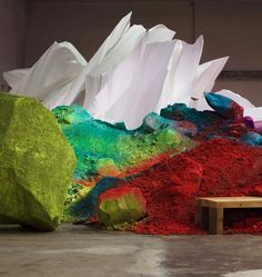Katrina Grosse's Gigantic Installations Of Brightly Painted Soil