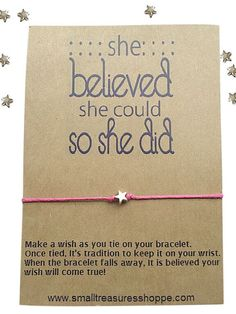 Inspirational Quote, Best Friend Jewelry, Greeting Card, Quote, Wish Bracelet