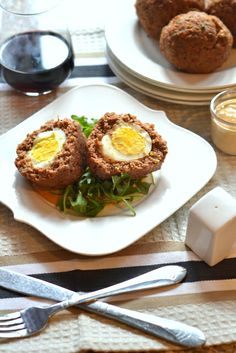 Scotch Eggs with #Marmite Honey Aioli. These guys are #glutenfree and #paleo and after the #recipe there's the chance to win a 5lb Rack of Lamb in a #giveaway!