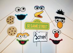 Sesame Street Inspired Photo Booth Props