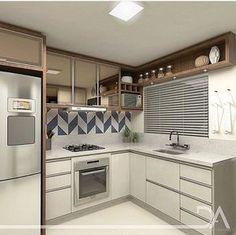 """958 curtidas, 11 comentários - Espaços decorados (@espacos.decorados) no Instagram: """"Inspiração! Olha que gracinha de cozinha que eu trago aqui pra vocês?! Bem distribuída e compacta!…"""""""