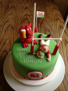 Welsh Rugby Birthday Cake By Canami Bespoke Cakes Patisseries