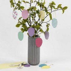 Diy Ostern, Diy For Kids, Diy Tutorial, Glass Vase, Easter, Wreaths, Templates, Spring, Creative