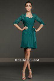 Robe soiree vert turquoise