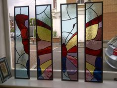 Images For > Stained Glass Butterfly Designs