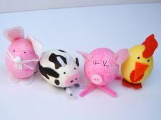 Osterbasteln mit Kindern - Ostereier dekorieren und in süße Tiere verwandeln