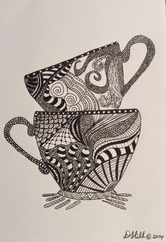 zentangle coffee cup - Google Search