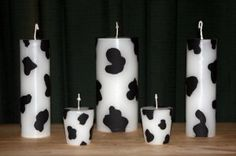 This Cow Print Pillar 5 Set comes with one 3 tower pillar and two 2 tower pillars and two votives. This set is scented with CLEAN CRISP A Cow Gifts, Girl Gifts, Diy Candles, Pillar Candles, Cow Birthday Parties, Cow Appreciation Day, Sweet Cow, Southwestern Home Decor, Cow Kitchen
