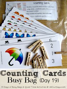 Counting cards - cartes à compter