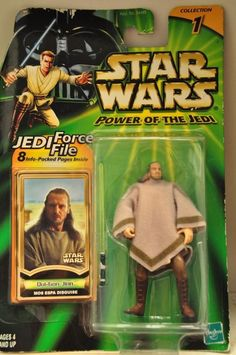 "NEW HASBRO Star Wars ""Power of the Jedi"" POTJ Qui-Gon Jinn Mos Espa MINT in card"