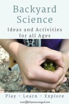 Backyard Science- Find ideas to make your backyard your kids favorite place to play.